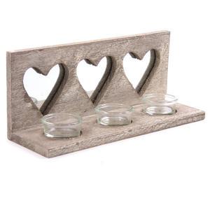 Träljushållare med spegel Trippel